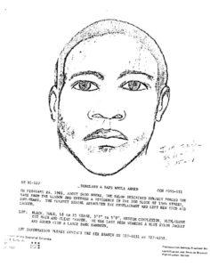 Kirk Odom, il ritratto fatto dalla Polizia nel 1981