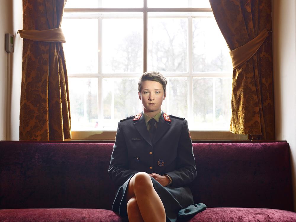 Paolo Verzone ha realizzato ritratti di cadetti nelle più importanti accademie militari europee. Terzo premio ritratti storie. (Paolo Verzone, Agence Vu)